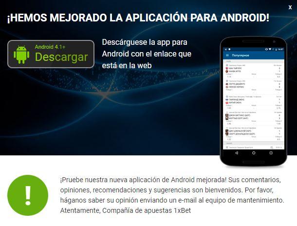 1xBet APK: descargar en Android