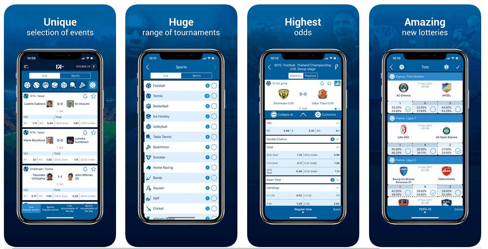 Uso de 1xBet App iOS